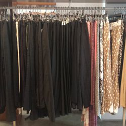 Leather pants for summer, anyone? There's plenty of that from Lot 38 for $369 and up, plus some pairs from Stella McCartney and Missoni in limited sizing.