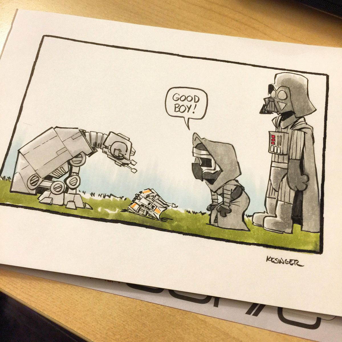 Star Wars and Calvin & Hobbes is the perfect combination ... Cartoon Kid Singer