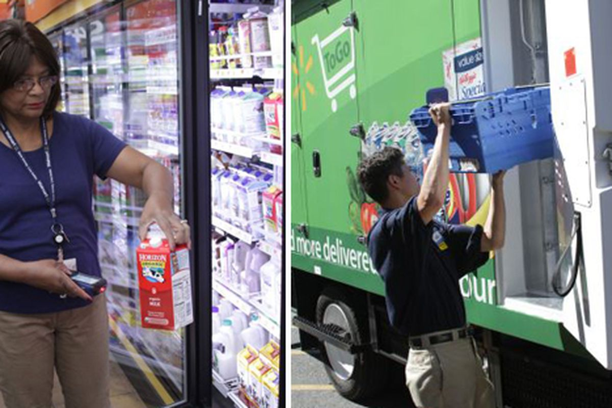 """From store to truck to your home, it's Walmart To Go; photos via <a href=""""http://news.walmart.com"""">Walmart</a>"""