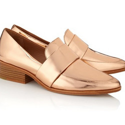 """Rose Gold Quinn Loafers, $100 (via <a href=""""http://www.polyvore.com/phillip_lim_rose_gold_quinn/thing?id=88262728 """"> Polyvore </a>)"""
