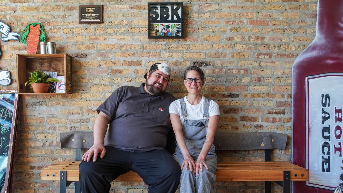 Mike Bancroft and Anne Kostroski, owners of Sauce and Bread Kitchen, 6338 N. Clark St. in Edgewater.