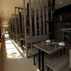 Another view of the infrared grills at your own table