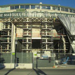 Sat 12/19: Scaffolding at main gate area -