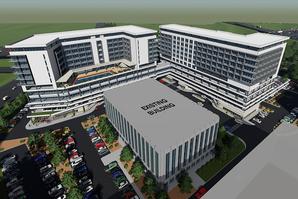 a rendering of the proposed medical center