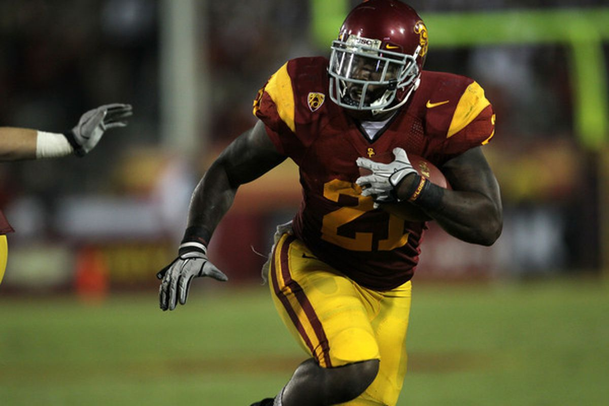 Senior running back Allen Bradford, playing his final game for USC, rushed for 212 yards on 28 carries with one touchdown, and caught a touchdown pass as well, leading the Trojans to a 28-14 win over UCLA at the Rose Bowl.