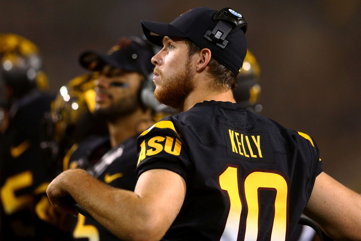 TK10 confined to crutches looking on during ASU's defeat at the hands of UCLA