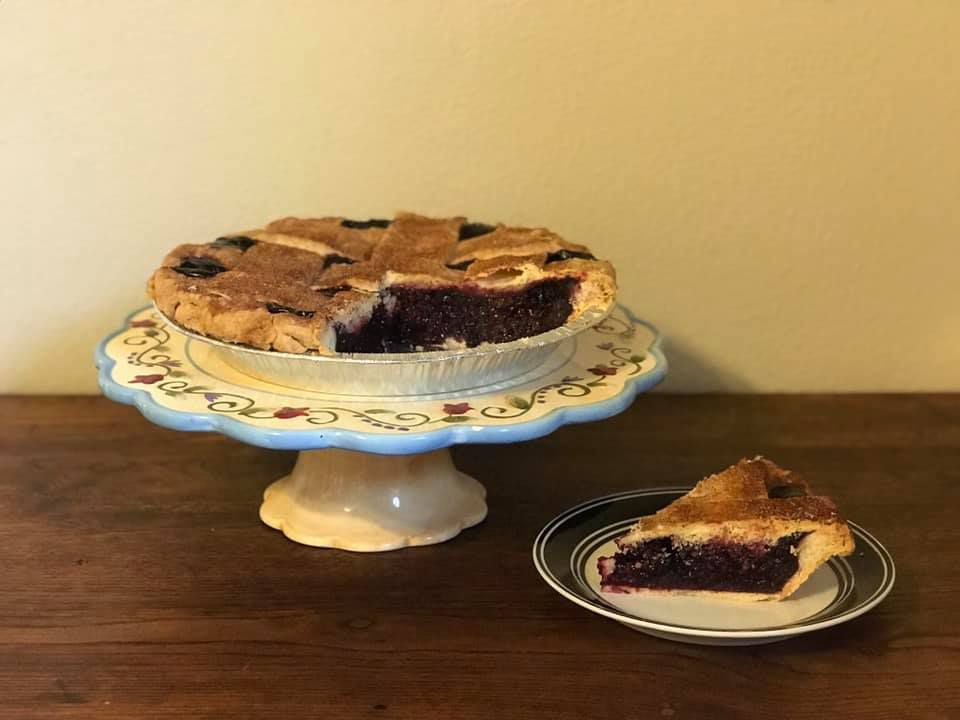 Blackberry pie from Fredericksburg Pie Company