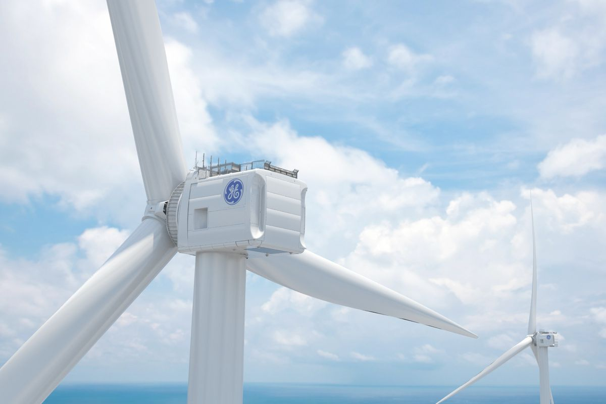 The GE Haliade-X, a big-ass wind turbine.