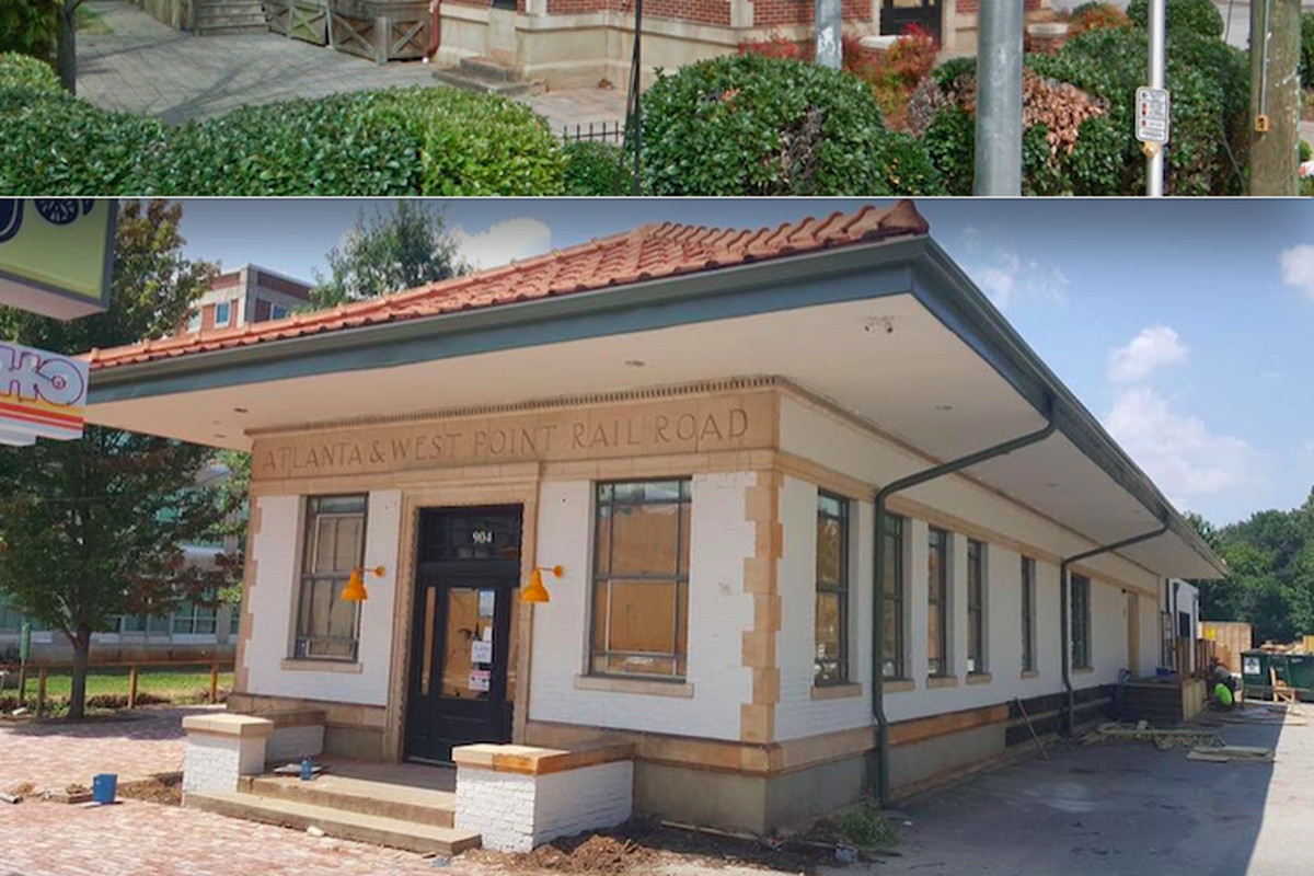 A Reynoldstown train depot that's got the locals outraged because it was painted white.