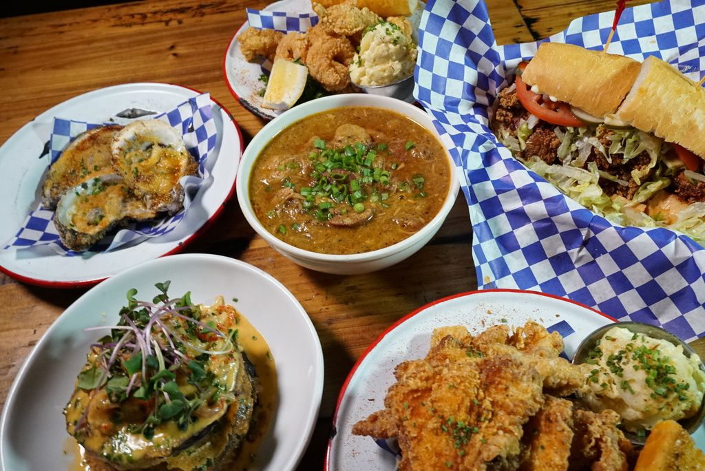 New Orleans inspired dishes served at Ina Mae Tavern.