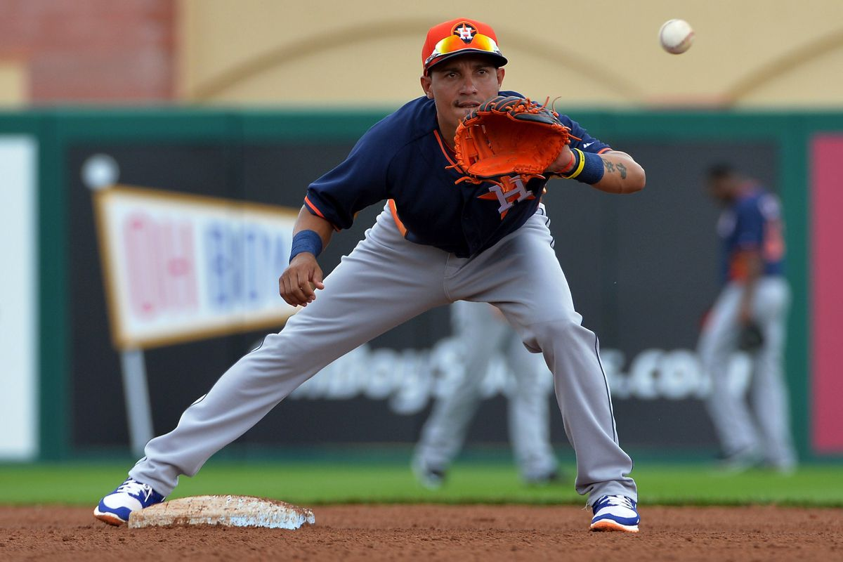Ronald Torreyes played all season in Triple-A Oklahoma City in 2014 at age 21.