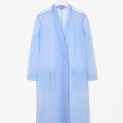 "Sheer long coat, <a href=""http://www.cosstores.com/us/Women/Sale/Sheer_long_coat/16265326-15438271.1#c-15133319"">$122</a>"