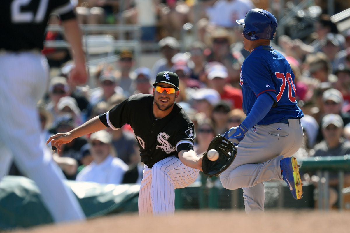 This play is where Javier Baez hurt himself Friday