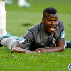 August 14, 2019 - Saint Paul, Minnesota, United States - Minnesota United forward Darwin Quintero (25) reacts to missing a goal scoring opportunity during the match against the Colorado Rapids at Allianz Field.
