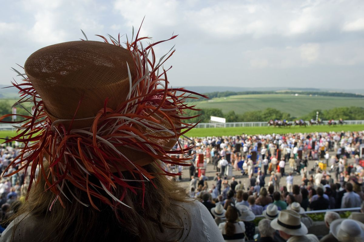 CHICHESTER, ENGLAND - JULY 28: A lady watches the racing on Ladies Day at Goodwood racecourse on July 28, 2011 in Chichester, England. (Photo by Alan Crowhurst/Getty Images)