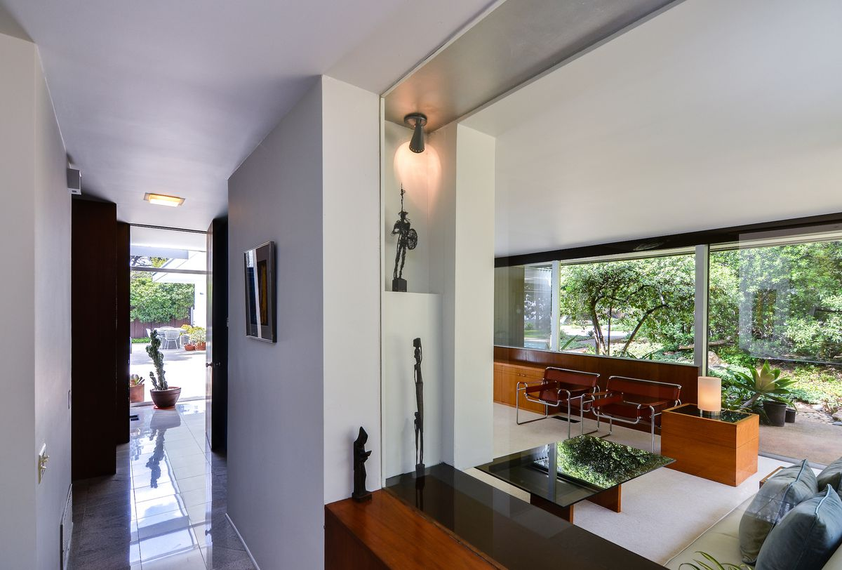 View through multiple living areas