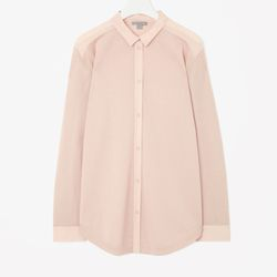 "Silk back merino shirt, <a href=""http://www.cosstores.com/us/Women/Sale/Silk_back_merino_shirt/16265326-15814404.1#c-15133331"">$62</a>"