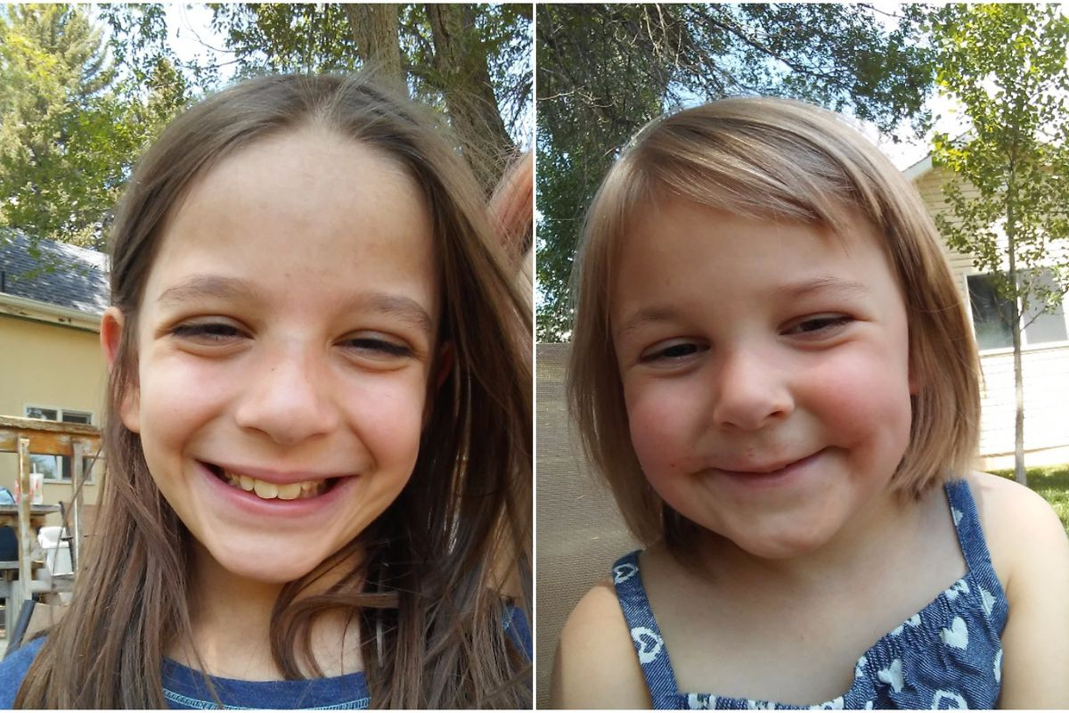 Police are looking for Dinah Elizabeth Coltharp, 8, and Hattie Briella Coltharp, 4.