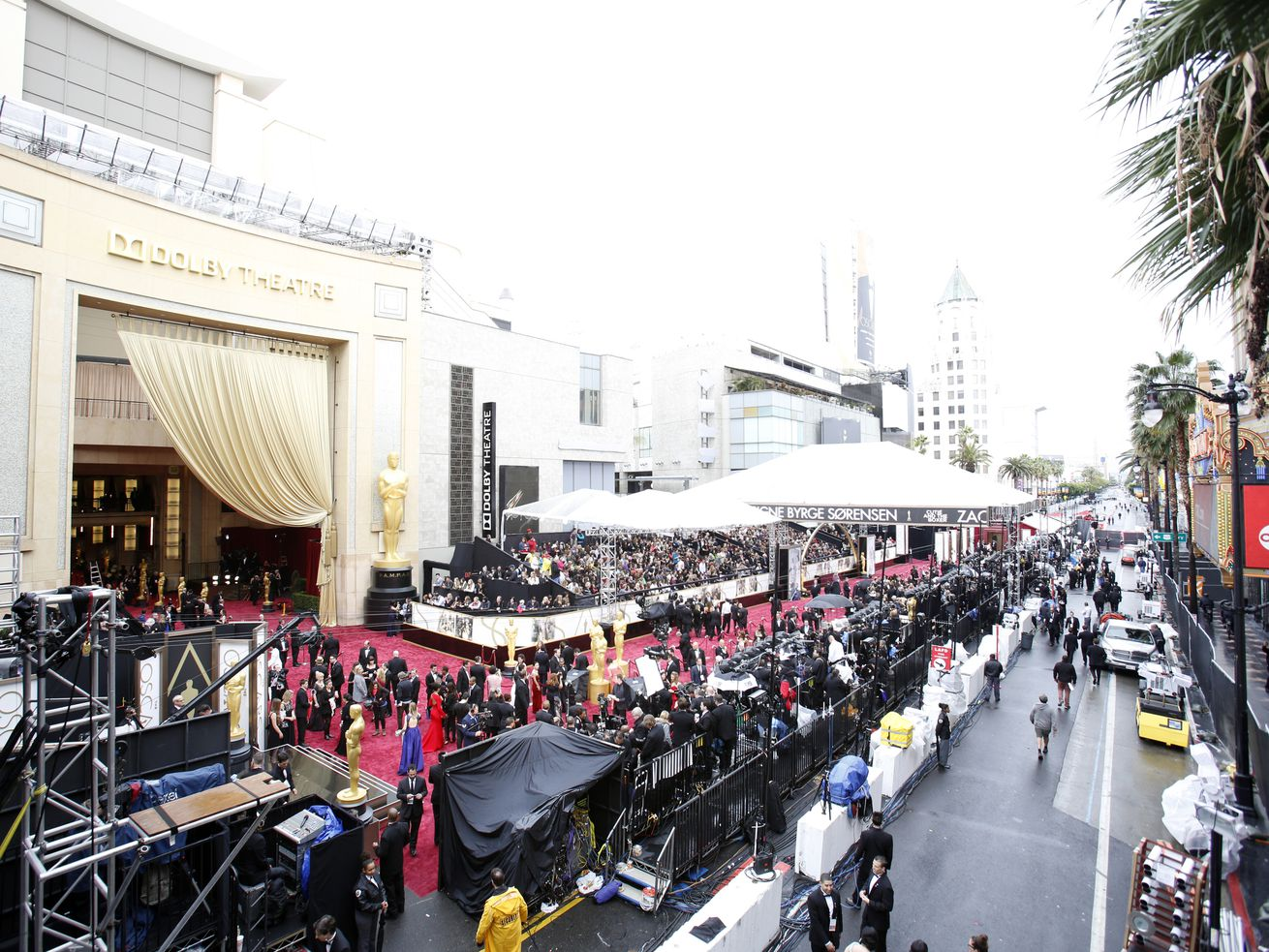 Much of Hollywood Boulevard will be closed on Oscar Sunday.