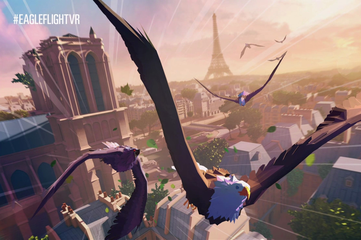 Watch eagles fight over a dead rabbit in multiplayer VR