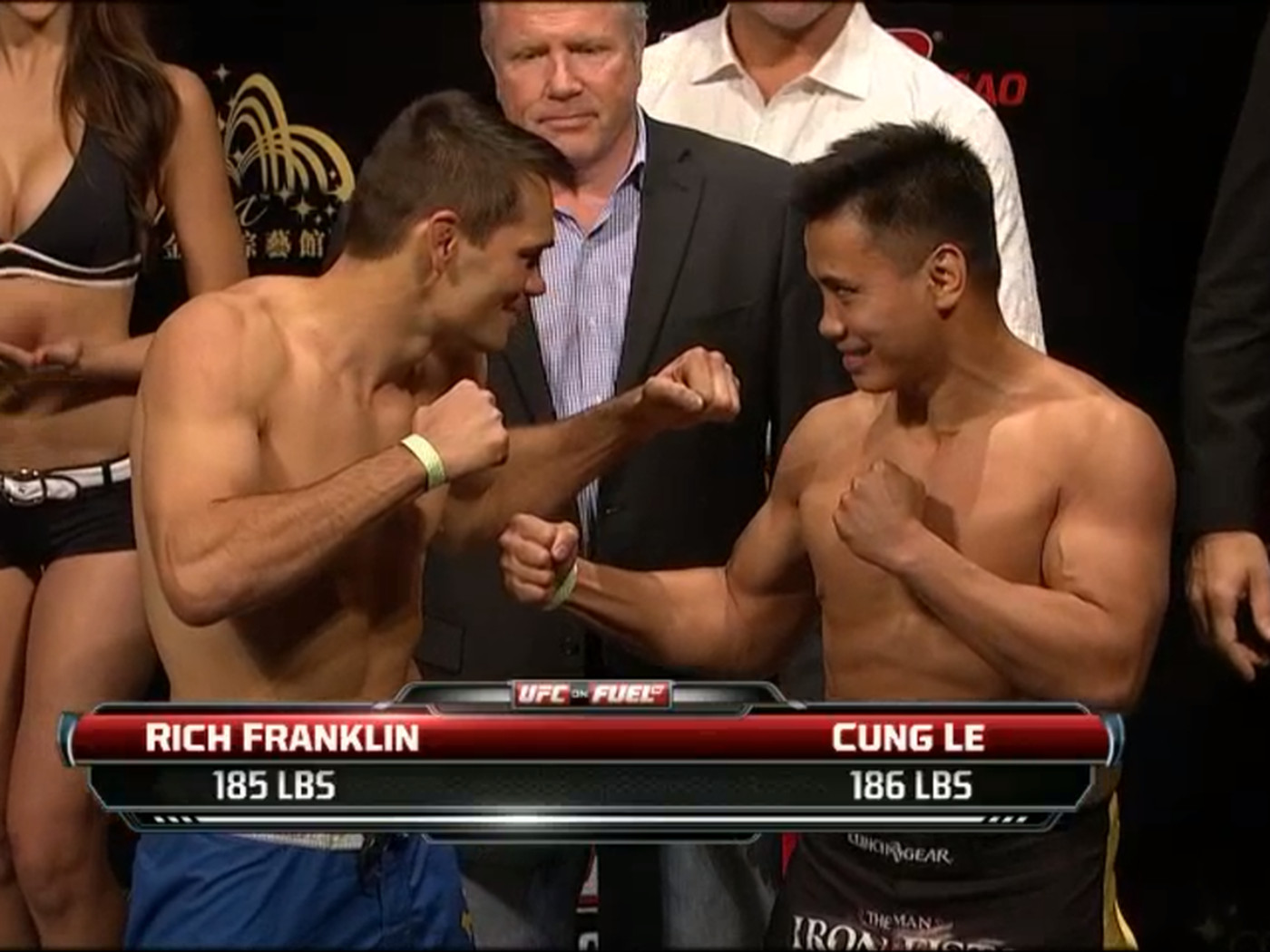 Rich Franklin Vs Cung Le Staredown Pic From Ufc On Fuel Tv 6 Weigh