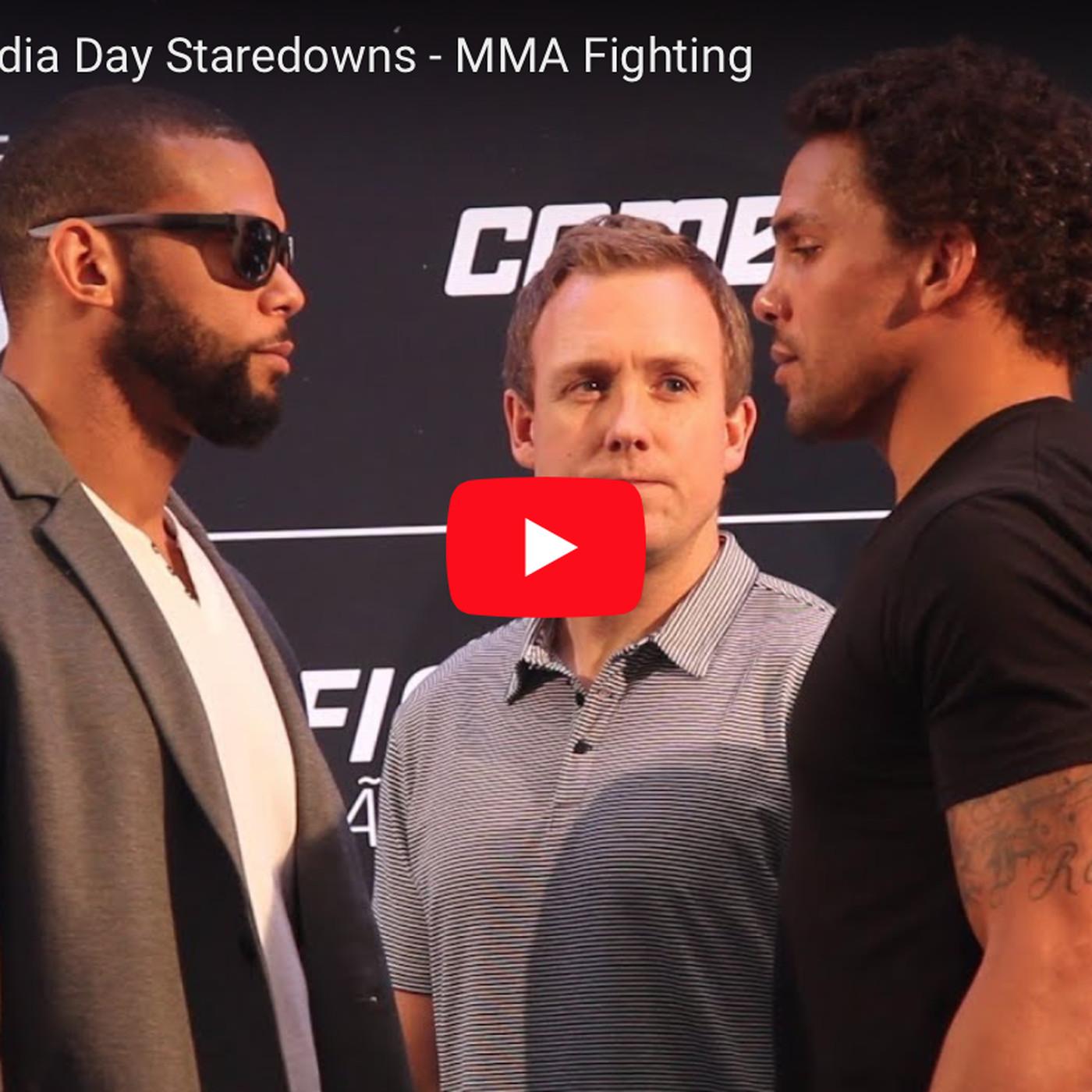 f0f329089c Thiago Santos vs Eryk Anders staredown video from UFC Sao Paulo media day -  MMAmania.com