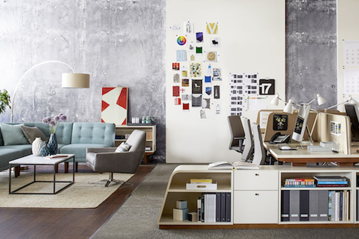 new west elm office furniture line gives you midcentury style but sadly not midcentury. Black Bedroom Furniture Sets. Home Design Ideas
