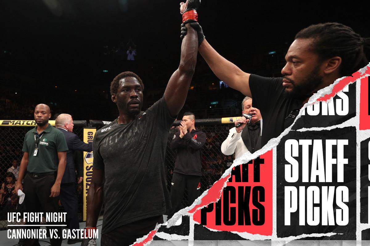 Jared Cannonier celebrates his UFC 237 win over Anderson SIlva.