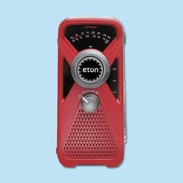 Eton American Red Cross Hand Turbine Weather Radio.
