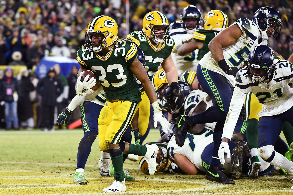 Packers Aaron Jones Was One Of The Nfl S Best Runners Against 8 Man Boxes In 2019 Acme Packing Company