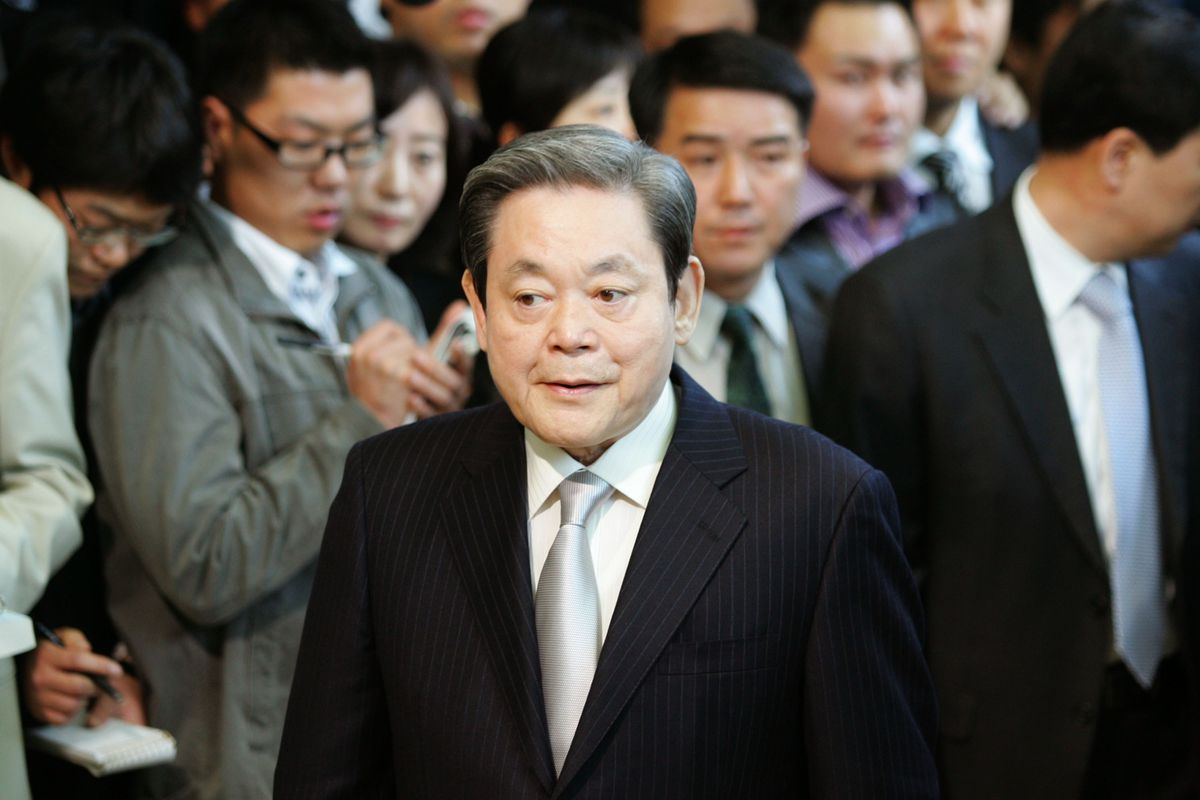 Samsung Group chairman Lee Kun-Hee Denies Corruption Charges