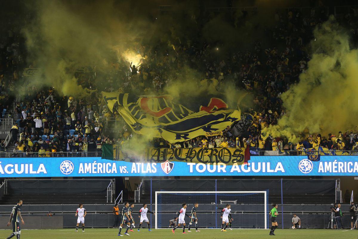 Club America and Atlas FC friendly soccer match