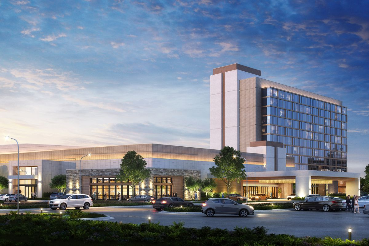 A rendering of a casino proposed for the corner of Harlem Avenue and Lincoln Highway in Matteson.