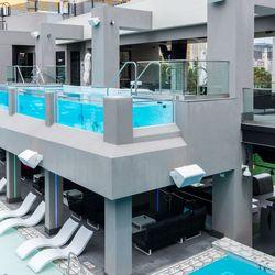 Topgolf pool and pool bar