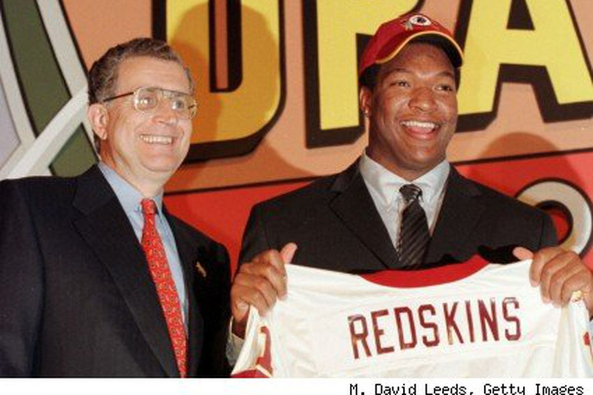 With the 3rd selection in the 2000 draft, the Washington Redskins select....