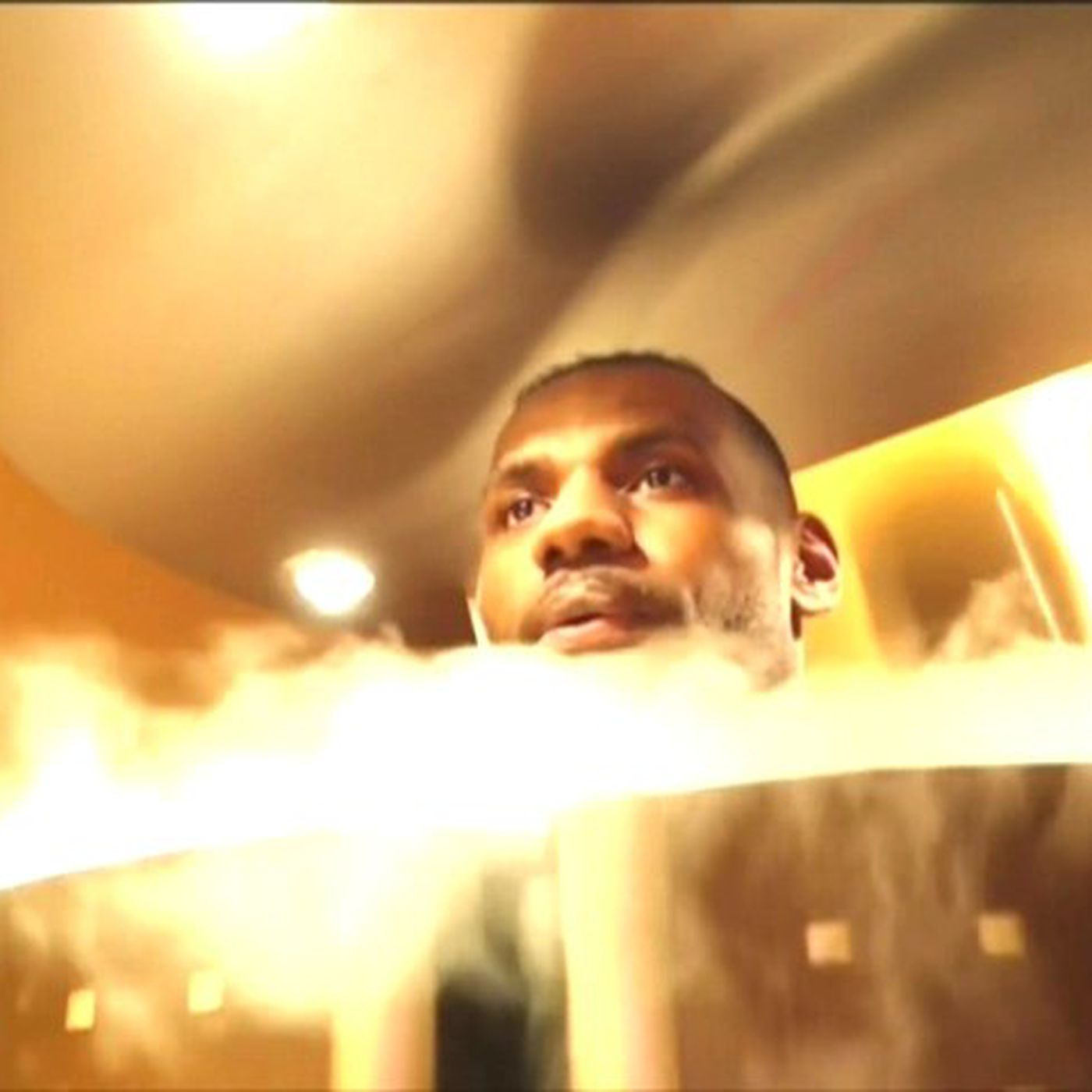 This is the liquid nitrogen chamber that LeBron James used