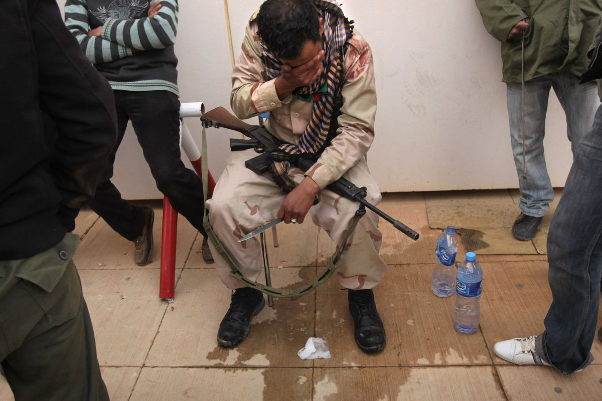 A rebel fighter in Libya in March 2011, during the country's civil war.