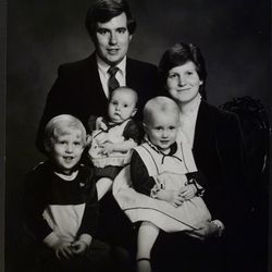 Mark W. Hofmann and his family are pictured in this undated family photo.