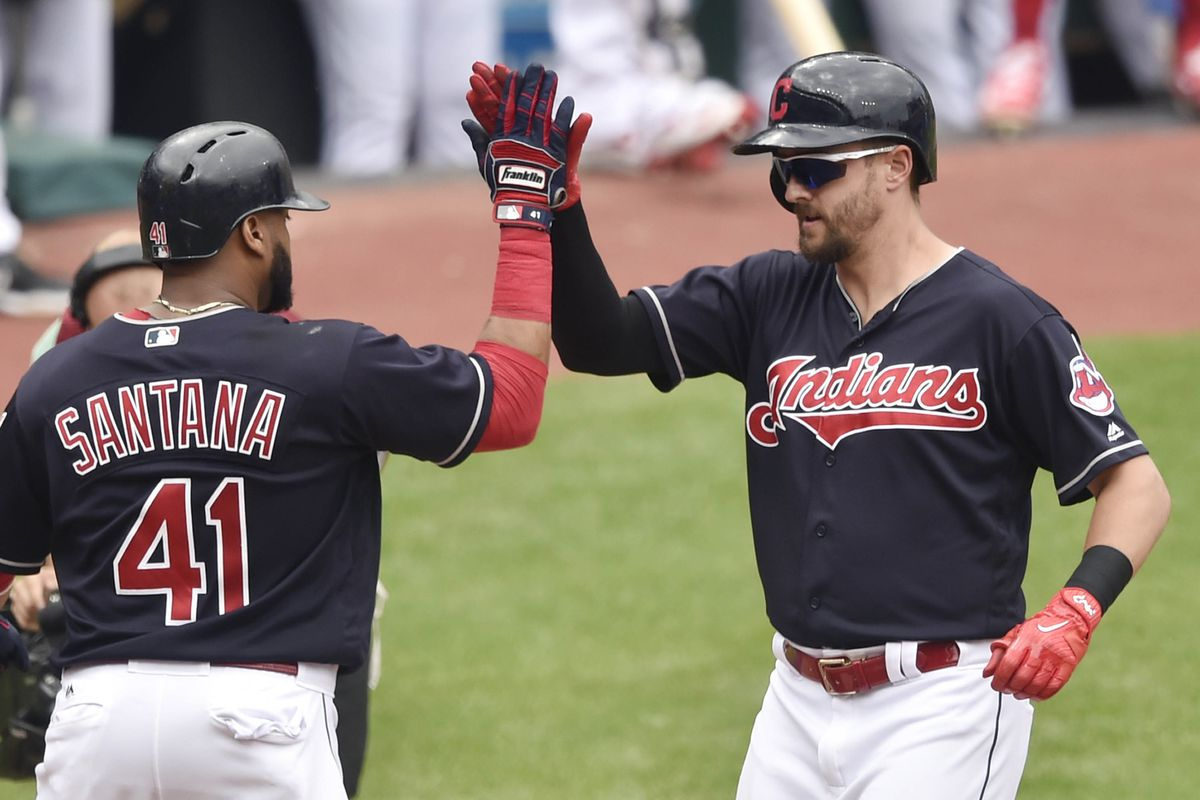 Chisenhall homers, drives in 5 as Indians rout Dodgers 12-5
