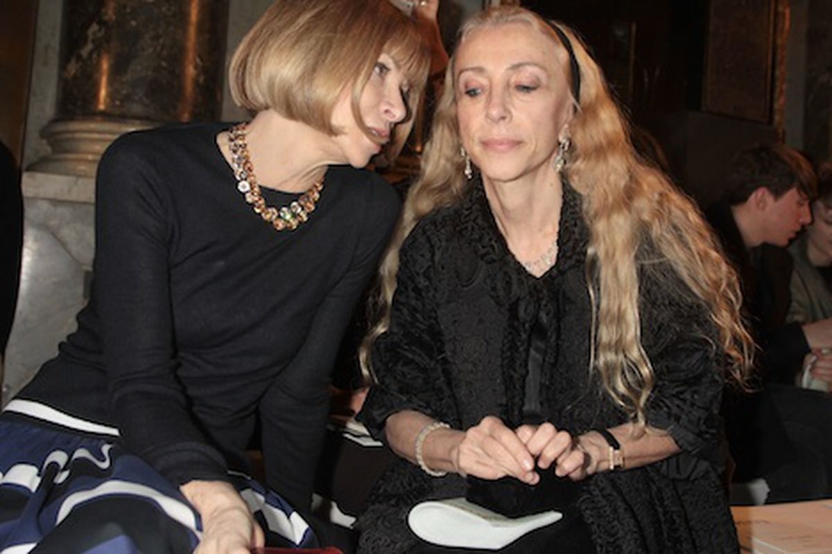 """""""We are very much on the same page."""" Sozzani on Anna Wintour. Photo credit: Getty Images"""