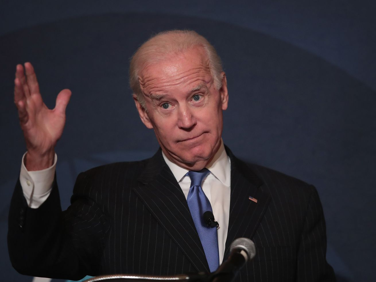 Former Vice President Joe Biden speaks to the Chicago Council on Global Affairs on November 1, 2017.