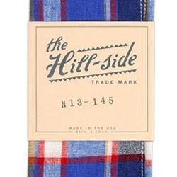 """Brooklyn-made The Hill-Side pocket square, <a href=""""http://shop.mutinydc.com/collections/frontpage/products/the-hill-side-pocket-square-no-145"""">$44</a>"""