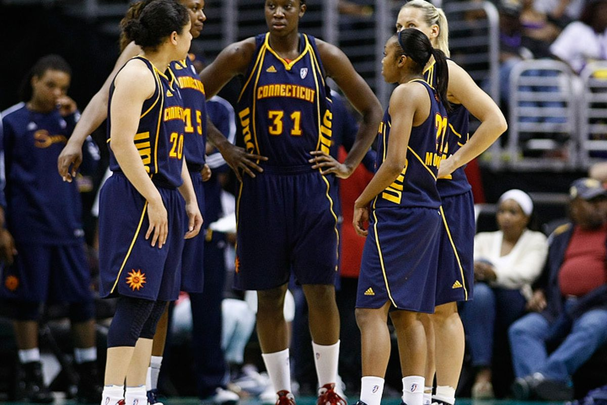 Despite an outstanding rookie year from Tina Charles, the Connecticut Sun have sputtered in the second half of the season. <em>Photo by Craig Bennett/112575 Media.</em>