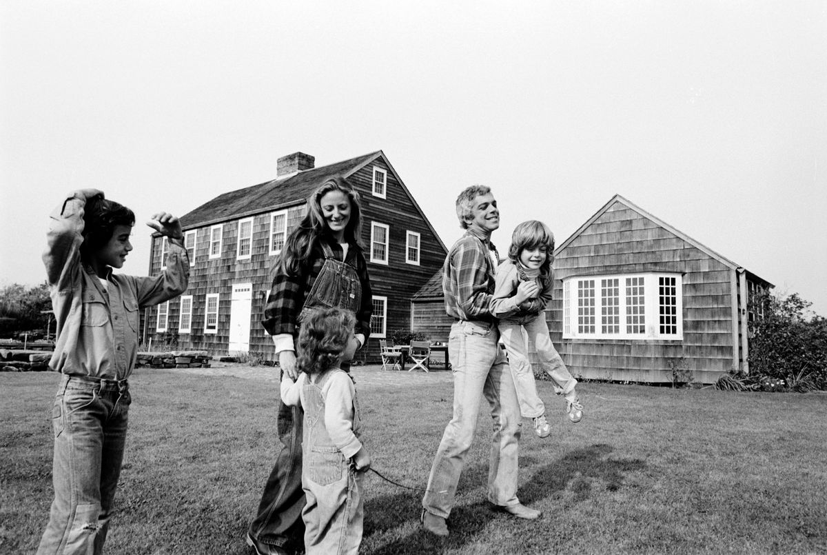c2236e61 Lauren and his family at their home in East Hampton, 1977. Photo: Susan  Wood/Getty Images.