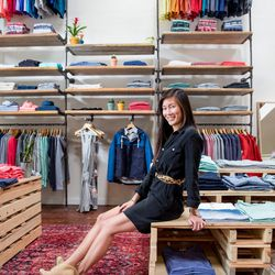"""<b>Chu-Min Lee, planner and merchant</b>, is wearing the Marine Layer <a href=""""http://www.marinelayer.com/store/shift-dress-black/dp/8035"""">black silk shift dress</a> with a Celine leopard print belt.   <p></p> <b>What's an item that you spent a lot of m"""