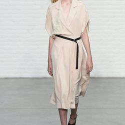 Bordering Asian influences and military lapels at Yigal Azrouel. Photo: IMaxTree.