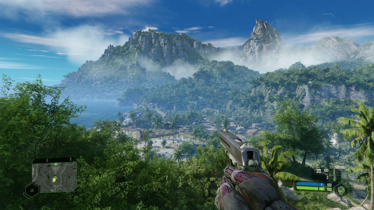 A lush jungle from Crysis Remastered