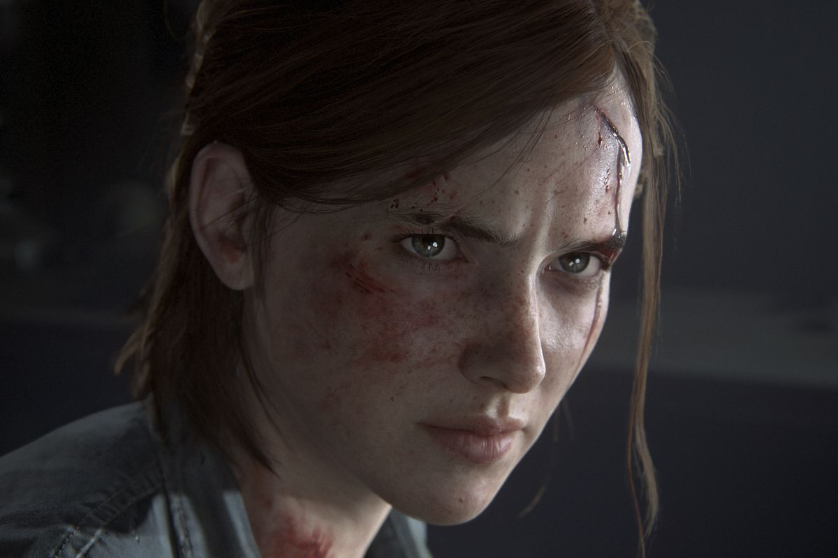 a close-up of Ellie in The Last of Us Part 2