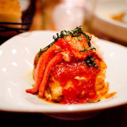 """Lobster Lasagna at Louro by <a href=""""https://www.flickr.com/photos/katieett/12089931993/in/pool-eater/"""">ettible"""