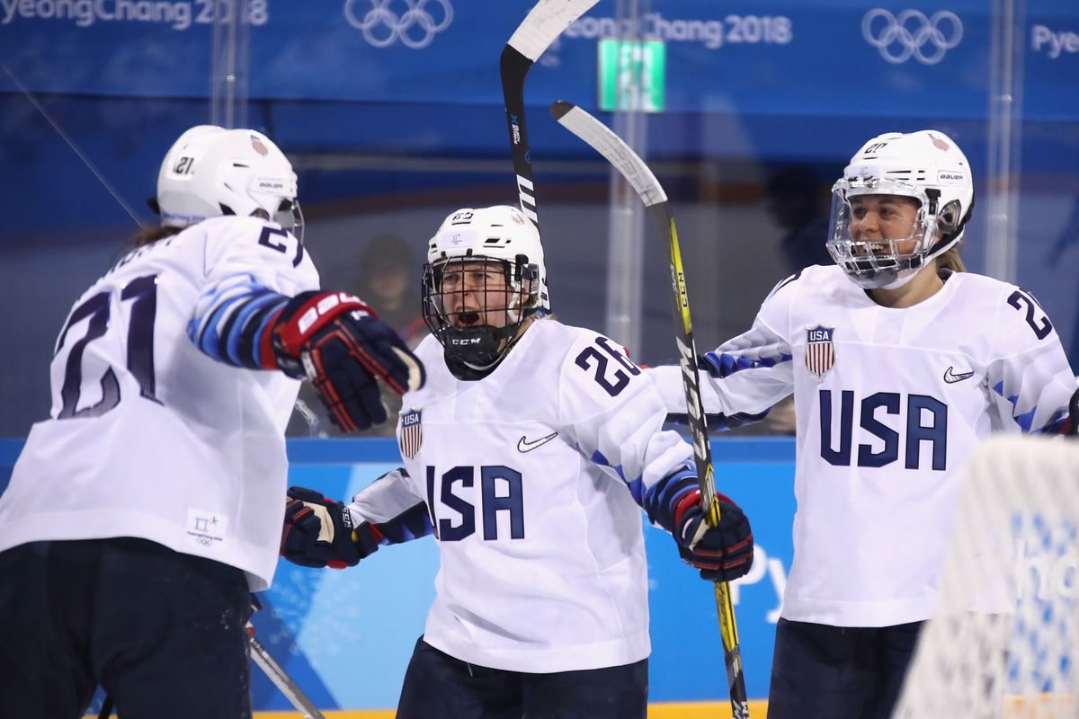 Cameranesi scores two, leads United States  women's hockey to gold medal game